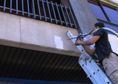 balcony stone cleaning - Spain