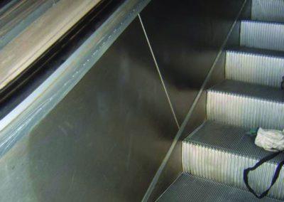 escalator graffiti after