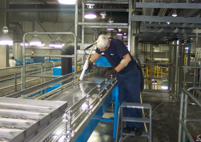jerry cleaning cupper deck